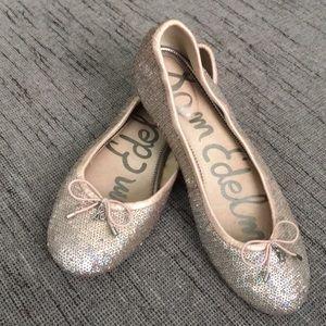 Sam Edelman Felicia Rose Gold Sequin ballet Flats